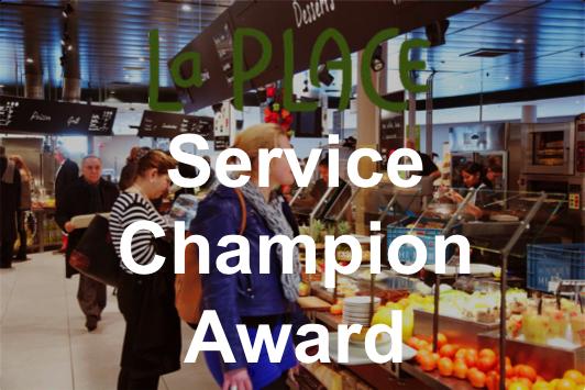 La Place best fast food service restaurant of the Netherlands – Service Champion Award