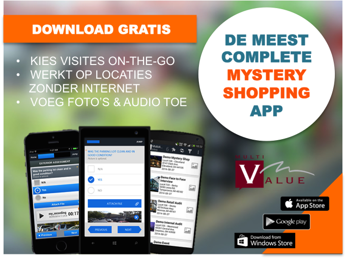 mystery shopper app voor mystery shopping